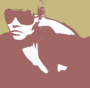 Sunglasses Digital Art - Niki brown by Irina  March