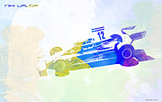 Torque Watercolor Paintings - Niki Lauda by Irina  March