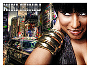 Niki Minaj Framed Prints - Niki Minaj Framed Print by The DigArtisT