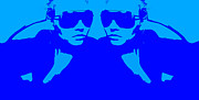 Sunglasses Digital Art - Niki Mirror Blue by Irina  March