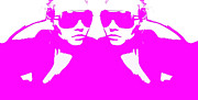 Sunglasses Digital Art - Niki Mirror Pink by Irina  March