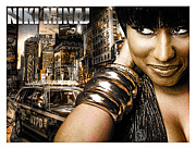 Niki Minaj Metal Prints - Niki Metal Print by The DigArtisT