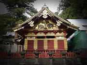 Roof Posters - Nikko Architecture with Gold Roof Poster by Irina  March