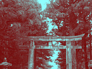Red Buildings Prints - Nikko Gate Print by Irina  March
