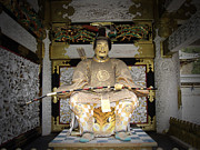 Samurai Photo Prints - Nikko Golden Sculpture Front Print by Irina  March