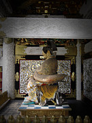 Japan Photo Framed Prints - Nikko Golden Sculpture Framed Print by Irina  March