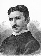 Flux Prints - Nikola Tesla, Serb-us Physicist Print by