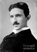 Electrical Engineer Posters - Nikola Tesla, Serbian-american Inventor Poster by Science Source