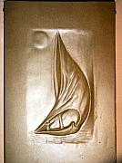 Transportation Reliefs - Nile Boat by Wall sculpture artist Ahmed Shalaby