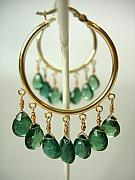 Exotic Jewelry - Nile Green Apatite Hoops by Adove  Fine Jewelry