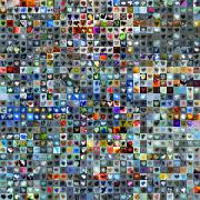 Grid Of Heart Photos Digital Art - Nine Hundred and One Hearts by Boy Sees Hearts
