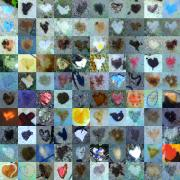 Grid Of Heart Photos Digital Art - Nine Hundred Series by Boy Sees Hearts