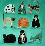 Tortie Paintings - Nine Lives by Mary Stubberfield