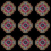 Nine Medallions Print by Thomas Smith