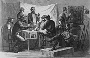 African Americans Prints - Nine Men At A Secret Meeting Print by Everett