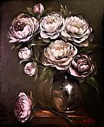 Peonies Paintings - Nine Peonies by Debi Frueh