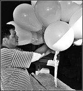 Kit Florendo Art - Ninety-nine White Balloons by Kit Florendo