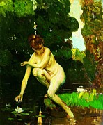 Bathing Paintings - Ninfea by Pg Reproductions