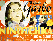Films By Ernst Lubitsch Framed Prints - Ninotchka, Greta Garbo, Melvyn Douglas Framed Print by Everett