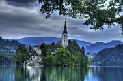Slovenia Photos - ninty-nine steps to the Chuch by Don Wolf