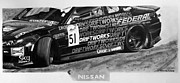 Automotive Drawings - Nissan S15 Driftworks 2010 by Gabor Bartal