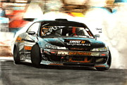Drift Car Posters - Nissan S15 Driftworks Poster by Gabor Bartal