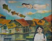 Nite Dreams Print by Min Wang