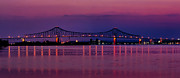 Barry Photos - Nitetime Barry Bridge by Nick Zelinsky