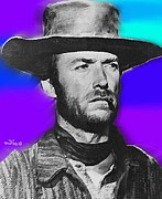 Good Over Evil Paintings - Nixo Clint Eastwood 1 by Nicholas Nixo