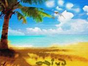 Nixo Landscape Beach Print by Nicholas Nixo