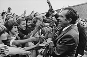 Campaigns Framed Prints - Nixon 1972 Re-election Campaign. Nixon Framed Print by Everett