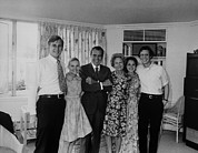 Heartbreak Photo Prints - Nixon Family Heartbroken But Smiling Print by Everett