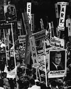 1980s Prints - Nixon Presidency. Delegates Rallying Print by Everett