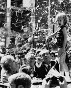 Ticker Tape Parade Posters - Nixon Presidency. From Left First Lady Poster by Everett