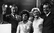 First Lady Metal Prints - Nixon Presidency. From Left Us Vice Metal Print by Everett