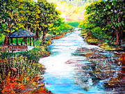 Impressionist Mixed Media - Nixons Glorious Morning View of the Rapidan by Lee Nixon