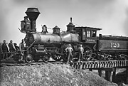 Ties Photos - No. 120 Early Railroad Locomotive by Daniel Hagerman