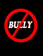 Shirt Digital Art - No Bully Zone by Linda Diane Taylor