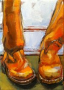 Fashion Painting Originals - No Burger Just FRYES by Claire Kayser