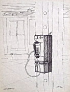Telephone Drawings - No Calls by Wade Hampton