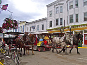 Carriages Digital Art Framed Prints - No Cars on Mackinac Island Framed Print by Ruth Hager