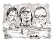 Tommy Lee Jones Drawings Acrylic Prints - No Country For Old Men Acrylic Print by Jamie Warkentin