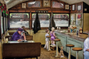 Bob Kramer Prints - No Dogs Allowed Diner .... Print by Bob Kramer