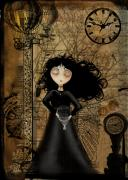 Goth Girl Digital Art - No Fear of Flying by Charlene Zatloukal