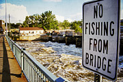 Appleton Photo Metal Prints - No Fishing From Bridge Metal Print by Shutter Happens Photography