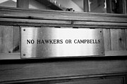 no hawkers or campbells sign in the clachaig inn site of the massacre of glencoe Scotland UK  Print by Joe Fox