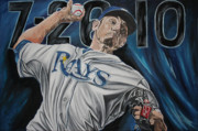 No Hitter Paintings - No Hitter by David Courson