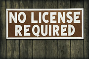 Rodanthe Prints - No License Required Sign Print by Anne Kitzman