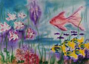 Fish Underwater Painting Originals - No Maintanence Aquarium by Zanobia Shalks