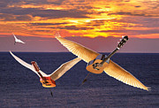 Flying Guitars Digital Art - No Nostalgia by Eric Kempson